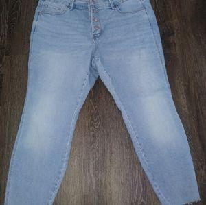 Plus Size Old Navy Women's Light Blue Jeans